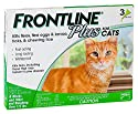 Merial FL287410 Frontline Plus for Cats and Kittens 8-Weeks and Older, (3 doses)
