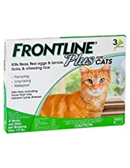 Frontline Plus Flea and Tick Control for Cats and Kittens , 8...