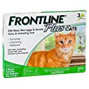 Frontline Plus FL287410 for Cats and Kittens 8-Weeks and Older (3 doses)