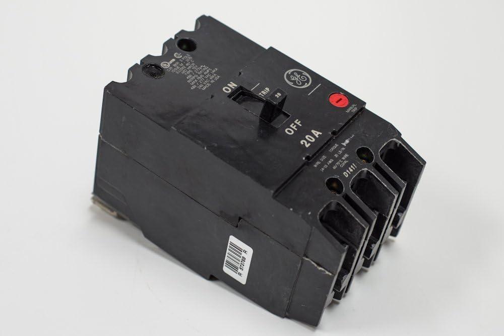 GE  TEY120 1 POLE 20 AMP 277 VOLT Circuit Breaker WARRANTY