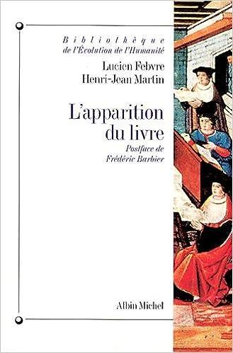 Apparition Du Livre L Collections Histoire French