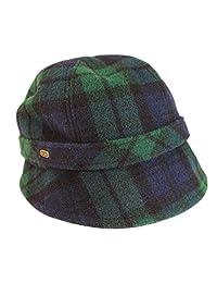 Ladies Irish Flapper Hat Black Watch Plaid 100% Wool