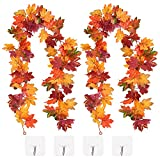 CaseTank 2 Pack Fall Decor Fall Maple Leaf Garland