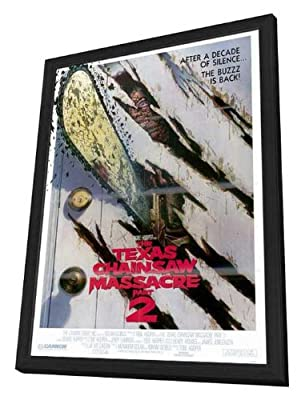 Texas Chainsaw Massacre 2 27 x 40 Movie Poster - Style B - in Deluxe Wood Frame