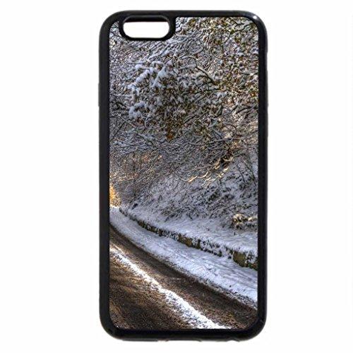 iPhone 6S / iPhone 6 Case (Black) road in winter
