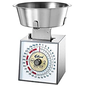 Edlund OU-32 Deluxe 32 oz. Over / Under Portion Scale with 3 Qt. Bowl
