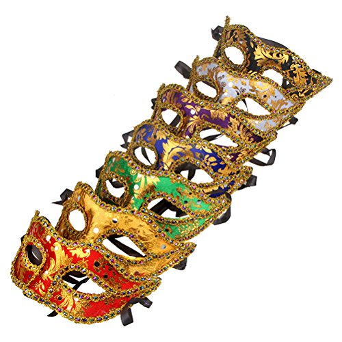 12pcs Set Evening Prom Venetian Masquerade Masks Costumes Party (Masquerade Masks Packs)