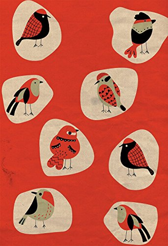 Mid Century Modern Print Birds Vintage Retro Abstract Art Print Poster Giclee on Paper Canvas and Cotton Canvas Wall Decor - Bird Giclee Canvas