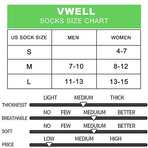 VWELL Athletic Running Socks for Men Women Thick Cushion Sports Ankle Socks