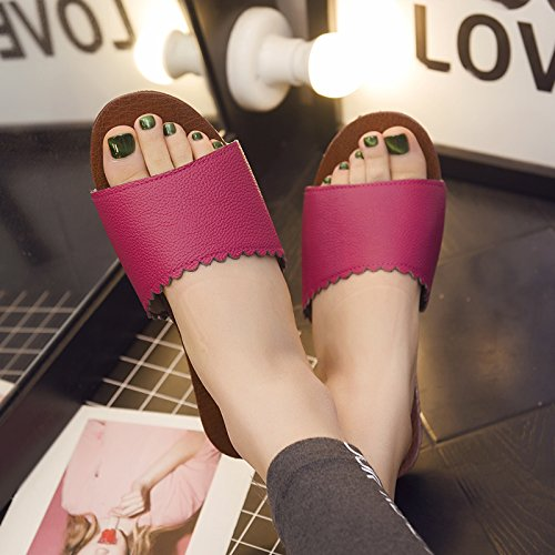 Current fankou Couples Room Cool Wooden Slippers Red 40 Slippers Thick Non Soft in Floors Female Slip 39 Home Summer Stay Frfwr