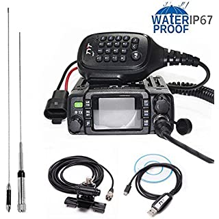 Sale TYT TH-8600 IP67 Waterproof Dual Band VHF UHF 136-174MHz/400-480MHz 25W Car Radio HAM Mobile Radio with Antenna Clip Mount USB Cable