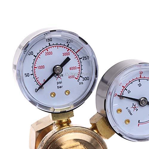 Price comparison product image NJPOWER Argon CO2 Gauges Pressure Reducer Mig Flow Meter Control Valve Welding Regulator R25 Drop ship