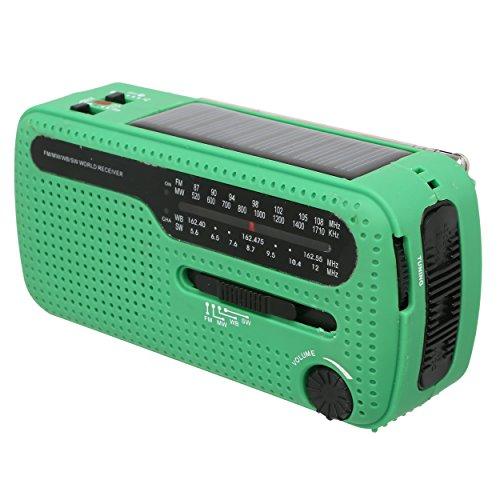 Nomadic Ways Co Emergency Kit Solar/Hand Crank Radio with Phone Charger-Beacon and Flashlight- Siren-AM/FM/NOAA Weather Band