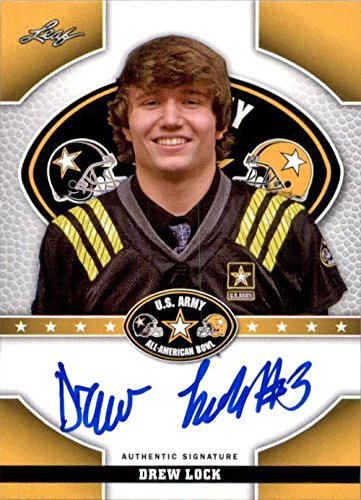 DREW LOCK 2015 Leaf US Army All-American Autograph TOUR Rookie Auto MISSOURI from Leaf