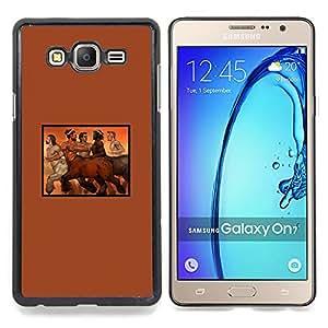 Queen Pattern - FOR Samsung Galaxy On7 G6000 - Centaur Horse Man Naked Nude Hot Mythology - Cubierta del caso de impacto con el patr???¡¯???€????€???&