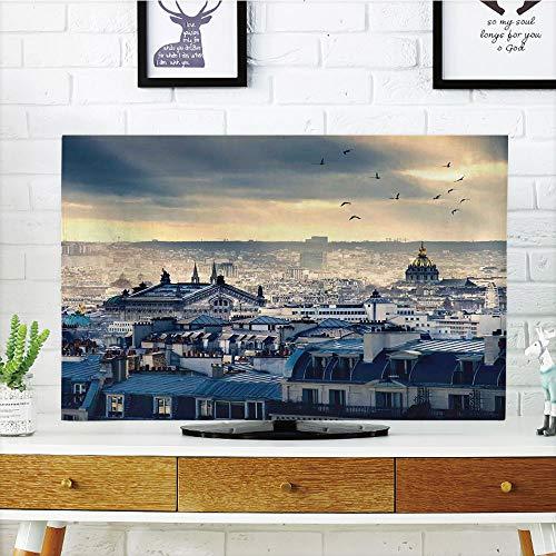 Cheap  iPrint LCD TV Cover Multi Style,Paris Decor,Paris Cityscape Taken from Montmartre Rooftops..