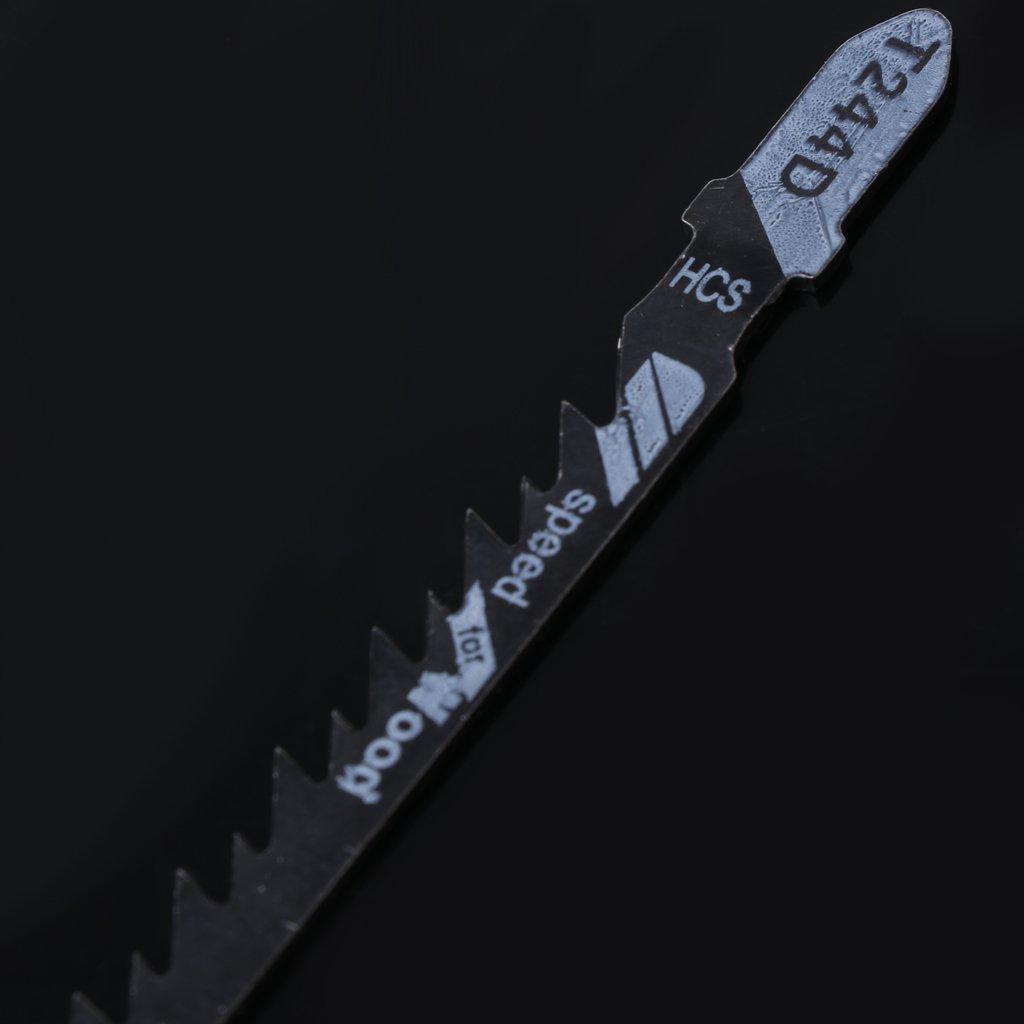 Juego de 5 hojas de sierra de calar curvadas y de corte r/ápido para madera Yuaierchen T244D HCS
