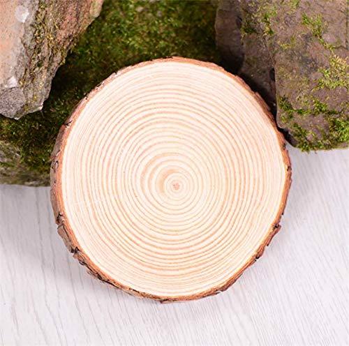 Fiesta 4 sizes Natural Round Wooden Slice Cup Mat Coaster Tea Coffee Mug Drinks Holder for DIY Tableware Decor Durable: log, 3-4cm diameter