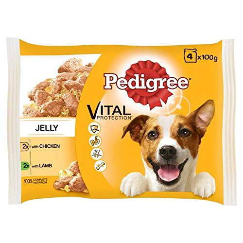 Pedigree Dog Pouch Chicken Lamb in Jelly 4 x 100g (PACK OF 2)