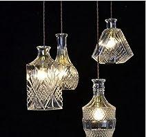 Araña antigua de bronce, lámparas de techo de salón ...