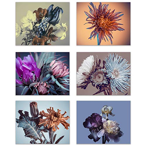 - Infinity Creations Flower Elegance Home Wall Decor: A Modern Illustration of Flower Bouquets/Buds. Bring in The Beauty of Flowers All Year Long-Set of 6 Unframed Photos (8
