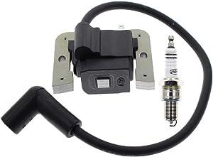 Carbhub 20 584 03-S Ignition Coil + Spark Plug for Kohler Courage Command SV470 SV480 SV530 SV540 SV590 SV600 SV610 SV620 15-18 HP Engine Motor MTD Cub Cadet 74360 74363 Ignition Coil 20 584 03-S