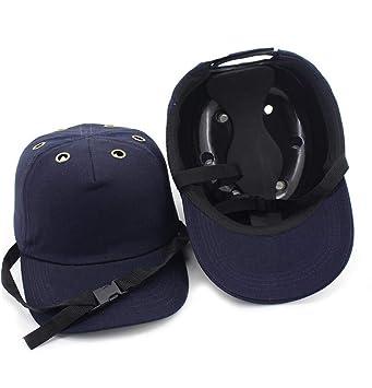 DingSheng - Gorra de seguridad ligera y dura, ajustable, 4 agujeros, 6 agujeros, protección para la cabeza, estilo gorra de béisbol: Amazon.es: Bricolaje y ...