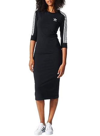 adidas 3Stripes Dress Vestido de Tenis, Mujer, (Negro), 34: Amazon.es: Deportes y aire libre