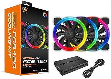 Cougar Gaming - Kit de refrigeración FCB RGB con 3 Ventiladores + ...