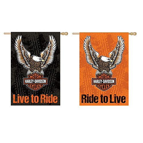 Evergreen Harley-Davidson Suede Double Ride to Live - Live to Ride