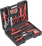 Meister Haushaltskoffer 44-teilig - Werkzeug-Set - Werkzeug für den täglichen Gebrauch/Werkzeugkoffer befüllt/Werkzeugset / Werkzeugbox komplett mit Werkzeug/Werkzeugsortiment / 8971430