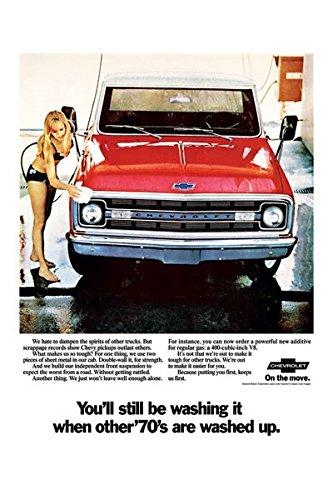 1970 Chevrolet Fleetside Pickup Ad Digitized & Re-mastered Truck Poster Print