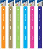 DDI 1475979 BAZIC Asstd Color 12 in. - 30cm Stainless Steel Ruler Case Of 288