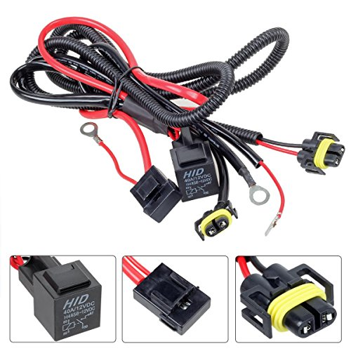 PartsSquare H11 880 Relay Wiring Harness For HID Conversion Kit, Add-On Fog Lights, LED DRL (Honda Element Fog Light Kit compare prices)