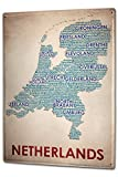 Tin Sign XXL Holiday Travel Agency map Netherlands