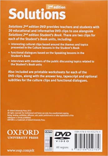 Solutions: Upper-intermediate: DVD-ROM: 9780194552769: Amazon.com ...