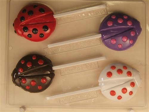 Ladybug Decorated With Dots AO255 All Occasion Chocolate Candy Mold