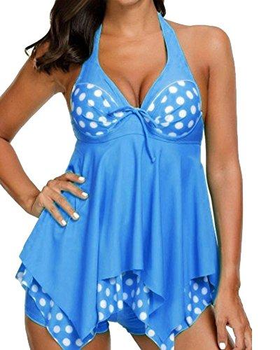 Stile Mare Penggeng Spiaggia Donna Abito Plus Costume Mutande Gonna Con Azzurro Costumi Un Da Size Chiaro Bagno WUprPUn81