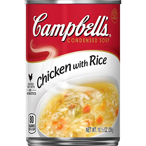 Campbell's Condensed Chicken with Rice Soup, 10.5 oz. Can (Pack of 12)