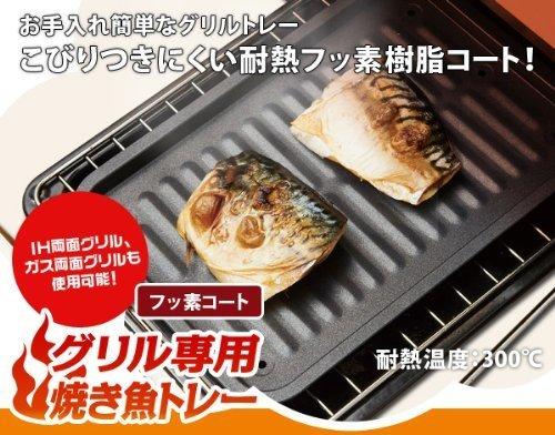 アイメディア グリル専用焼き魚トレー フッ素コートの商品画像