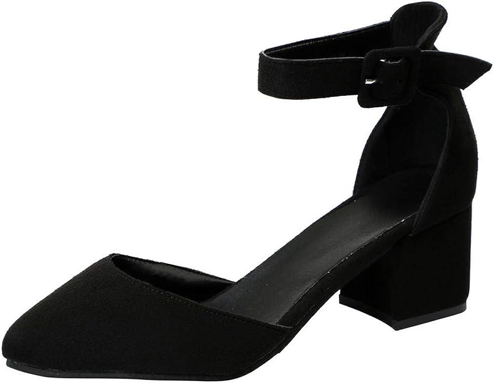 Summer Suede Chunky Heel Sandals