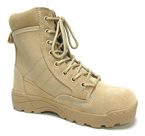 Military Uniform Supply Desert Combat Boots - Size 1 Regular Desert Combat Uniform Boots
