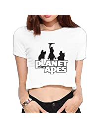 HOHOE Girl Dew Navel T The Planet Of Apes Hipsters Underwear White