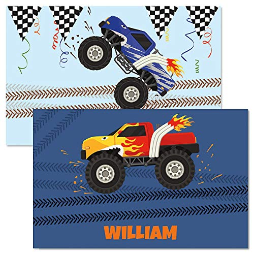 Personalized Monster Truck Kids' Placemat-11