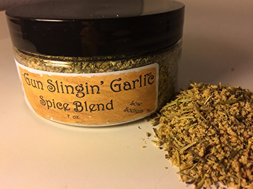 Gun Slingin' Garlic Low Sodium Spice Blend, All-Natural Gourmet Seasoning is Delicious on vegetables, beef, chicken, fish, seafood, and it makes the BEST MASHED POTATOES and baked potatoes.