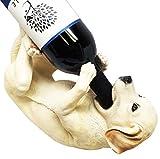 Wall Charmers Labrador Retriever Puppy Dog Wine Bottle Holder Rack Kitchen Decor Canine Figurine Statue Caddy
