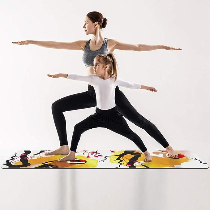Eslifey Birds - Esterilla de Yoga con diseño de Mariposas en ...