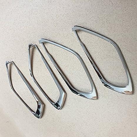ABS mat Int/érieur Poign/ée de porte lat/érale Couvercle de bol Trim 4 pcs pour Accessoire de voiture MZX5