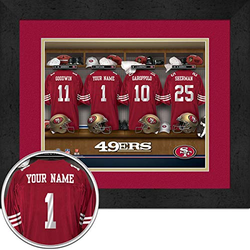 San Francisco 49ers Room Personalized Jersey Officially Licensed NFL Sports Photo 11 x 14 Print ()