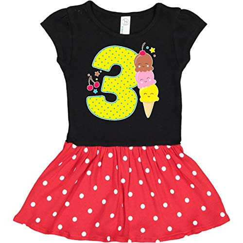 (inktastic - Ice Cream Third Toddler Dress 2T Black & Red with Polka Dots 2f6f1)